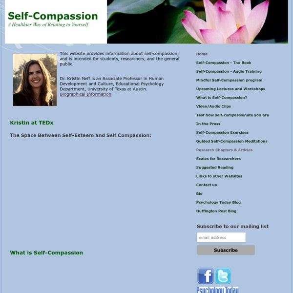 Self-compassion - A Healthier Way of Relating to Yourself