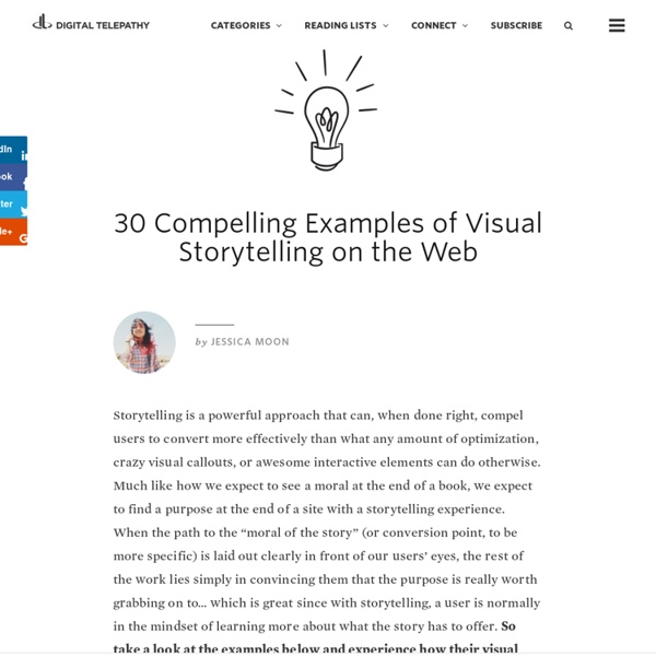 30 Compelling Examples of Visual Storytelling on the Web