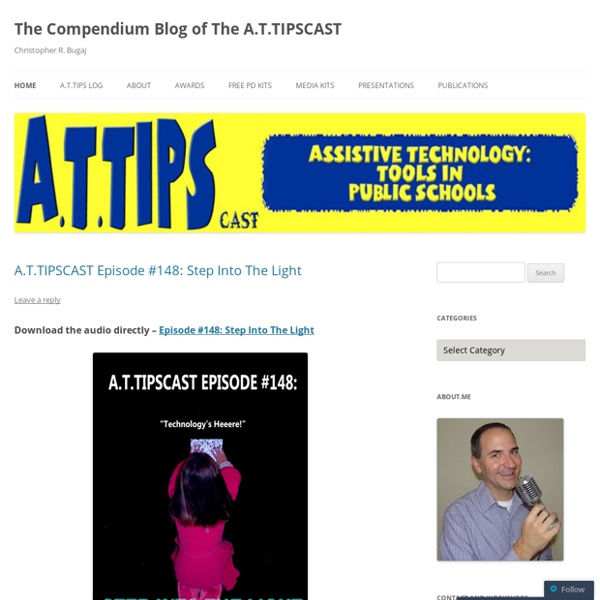 The Compendium Blog of The A.T.TIPSCAST « Christopher R. Bugaj