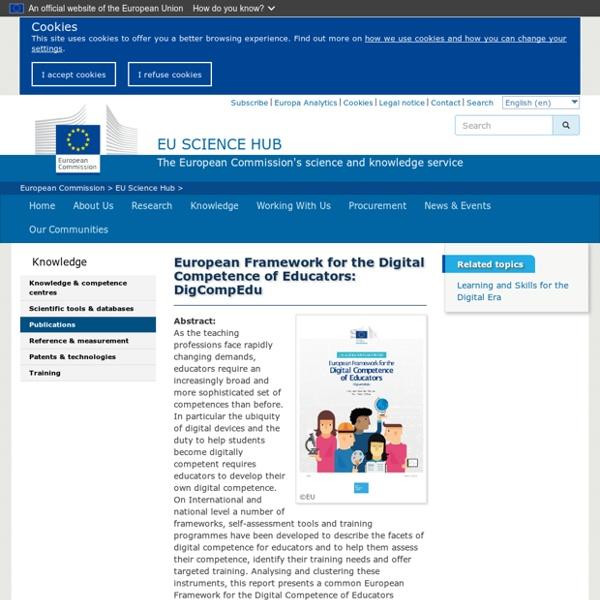 European Framework for the Digital Competence of Educators: DigCompEdu