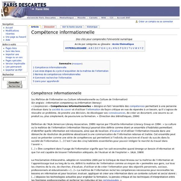 Compétence informationnelle