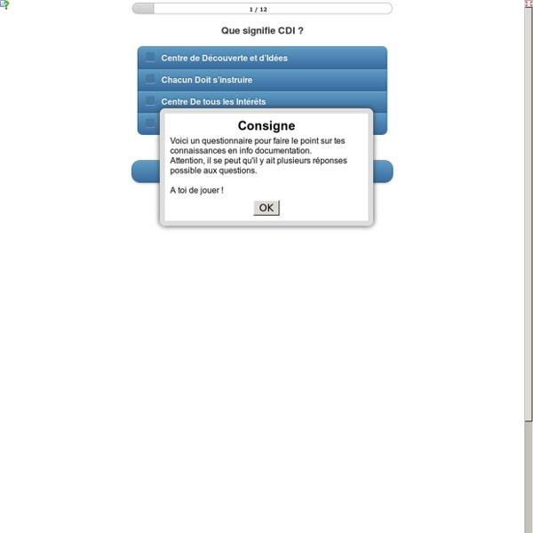 5ème : Je teste mes compétences en info-documentation