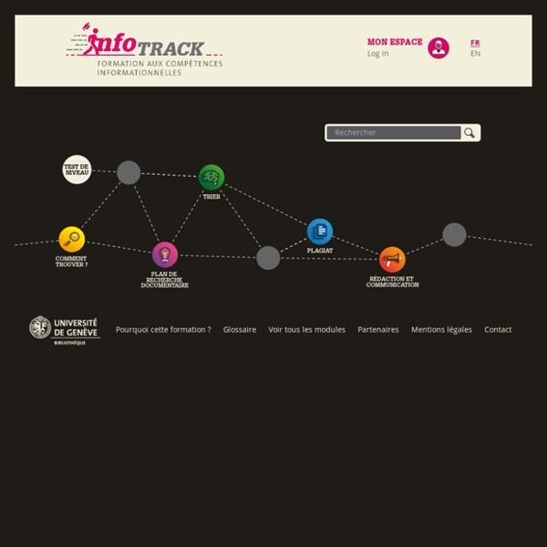 InfoTrack : Formation aux compétences informationnelles