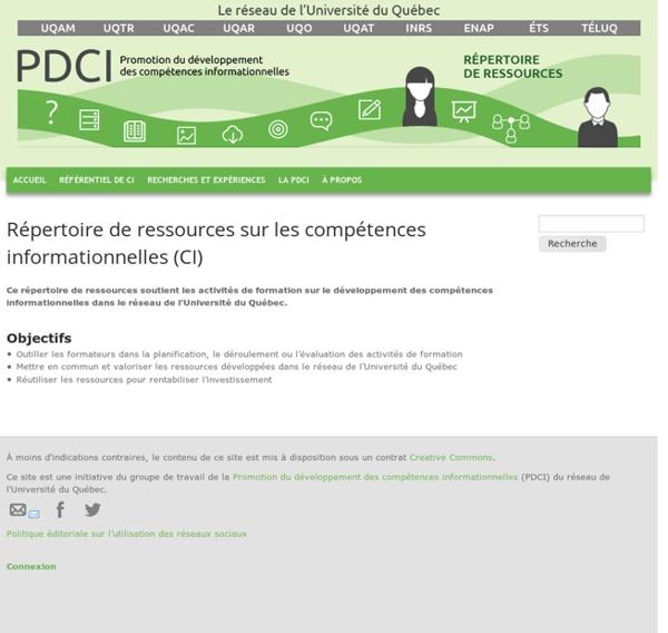 Répertoire de ressources sur les compétences informationnelles (CI)
