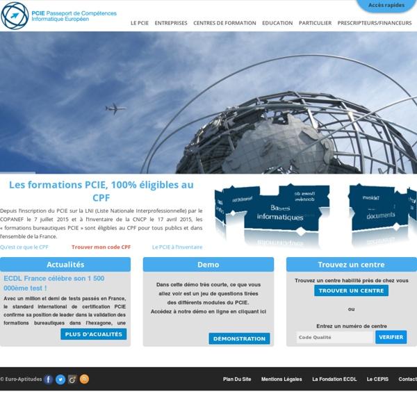 PCIE - Passeport de Compétences Informatique Européen
