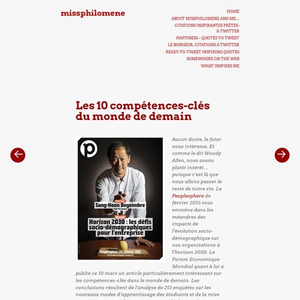 Les 10 compétences-clés du monde de demain – missphilomene