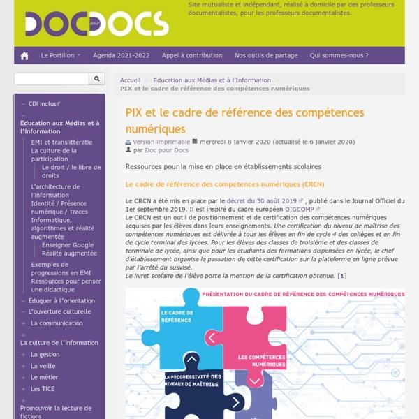 PIX et le cadre de référence des compétences numériques