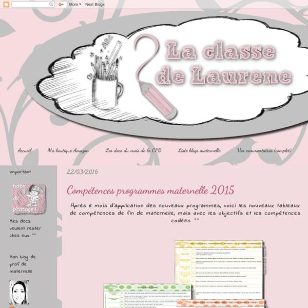Compétences programmes maternelle 2015