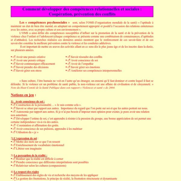 Comment développer des compétences relationnelles et sociales