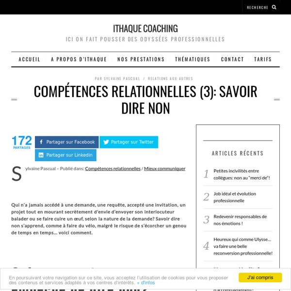 Compétences relationnelles (3): savoir dire non