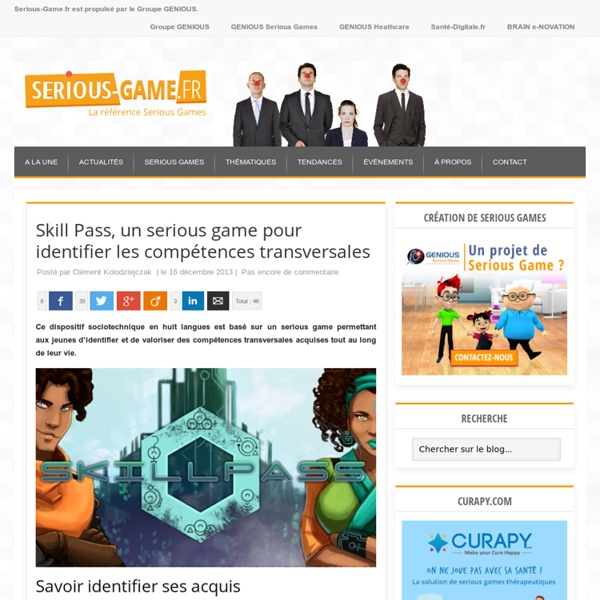 Ludo Ergo Sum, un serious game pour identifier les compétences transversales