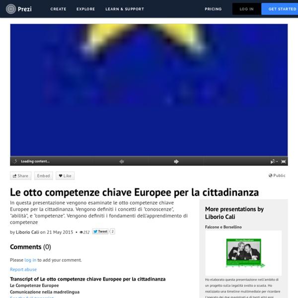 Le otto competenze chiave Europee per la cittadinanza by Liborio Cali on Prezi