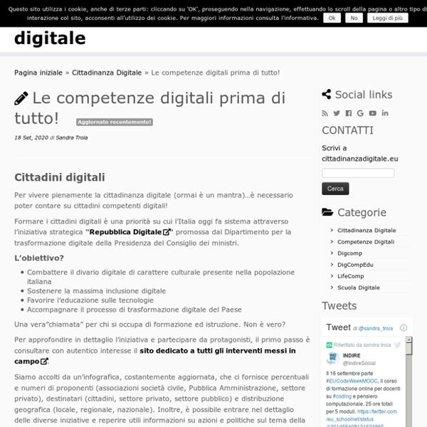 Le competenze digitali prima di tutto! – cittadinanza digitale