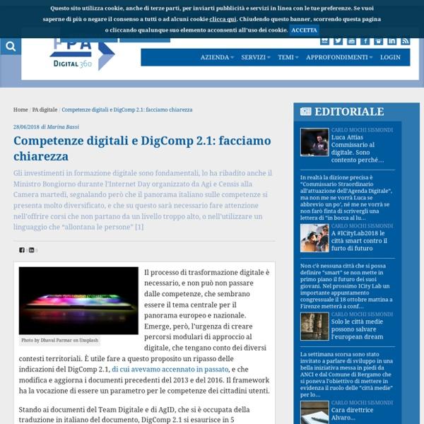 Competenze digitali e DigComp 2.1: facciamo chiarezza