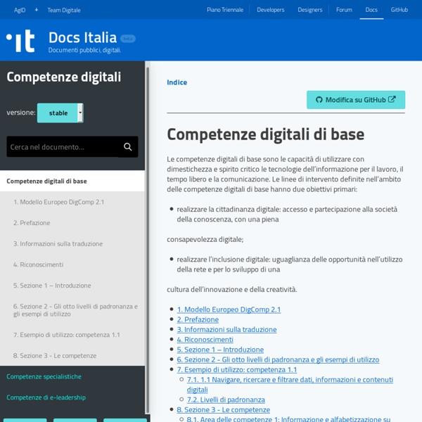 Competenze digitali di base