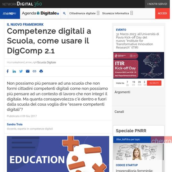 Competenze digitali a Scuola, come usare il DigComp 2.1