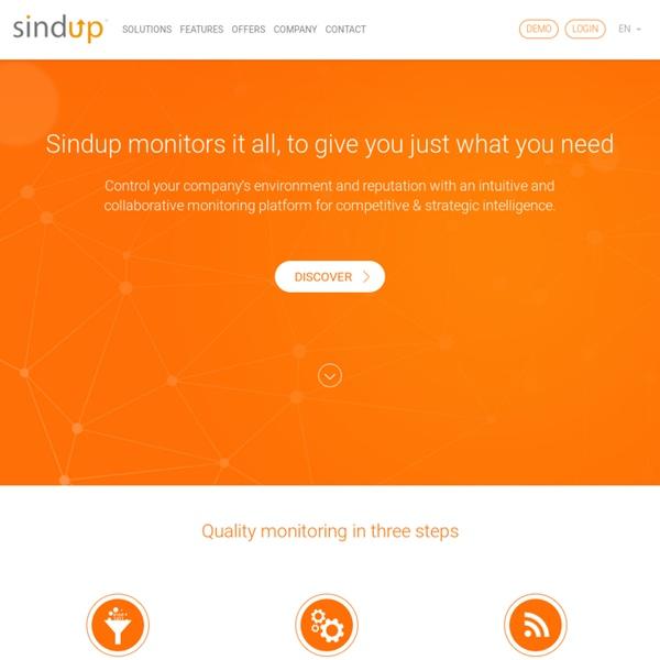SINDUP® moteur de veille d'actualités, veille stratégique et intelligence économique