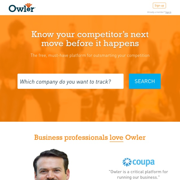 Owler: Competitive Intelligence for Better Business Decisions