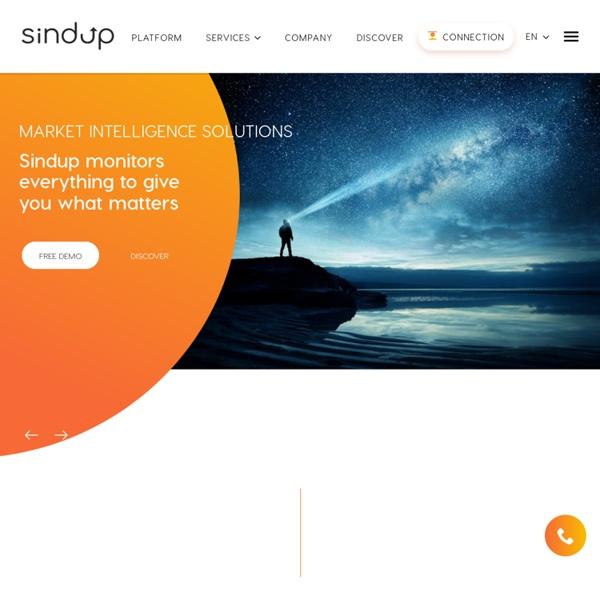 Sindup : Plateforme de veille stratégique et e-réputation