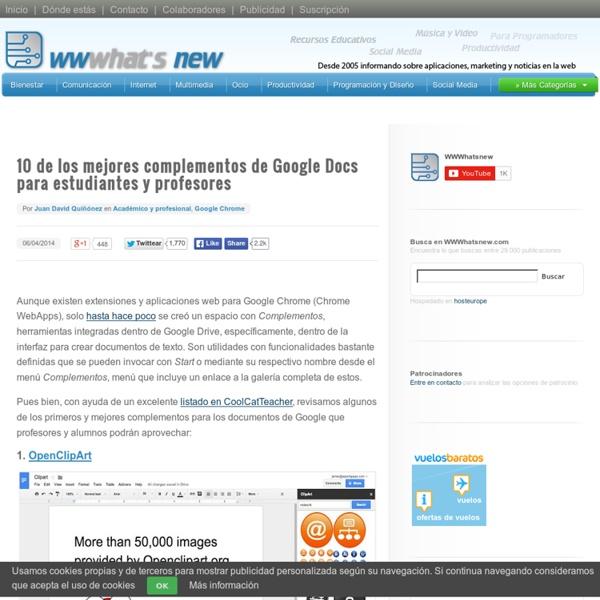10 de los mejores complementos de Google Docs para estudiantes y profesores
