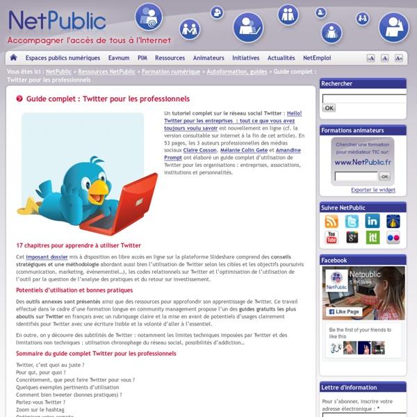 Guide complet : Twitter pour les professionnels