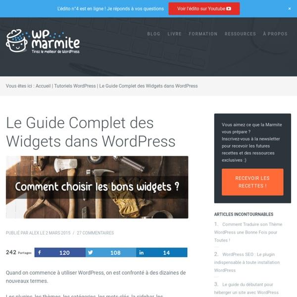 Le Guide Complet des Widgets dans WordPress