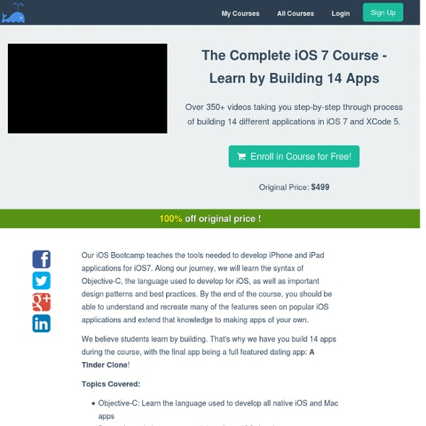 The Complete iOS 7 Course - Learn by Building 14 Apps - bitfountain