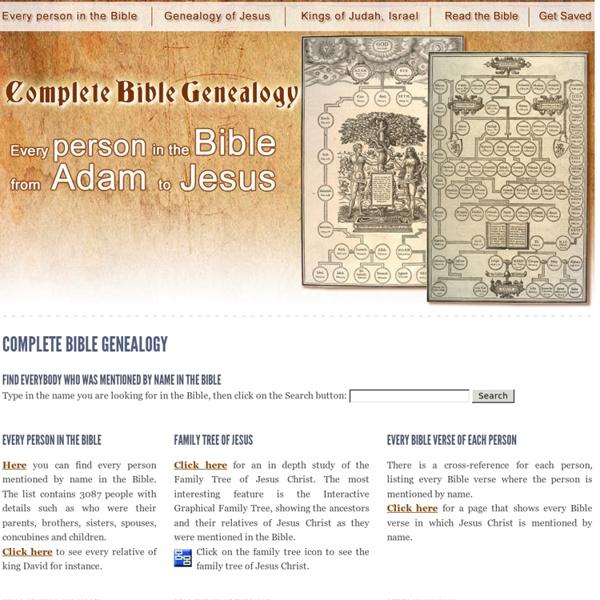 Complete Bible Genealogy - Jesus family tree - Kings of Judah and Israel