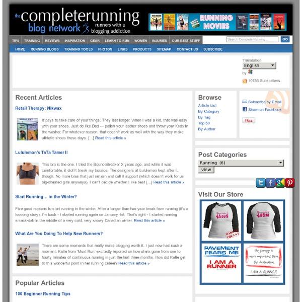 Runner's Information & Advice