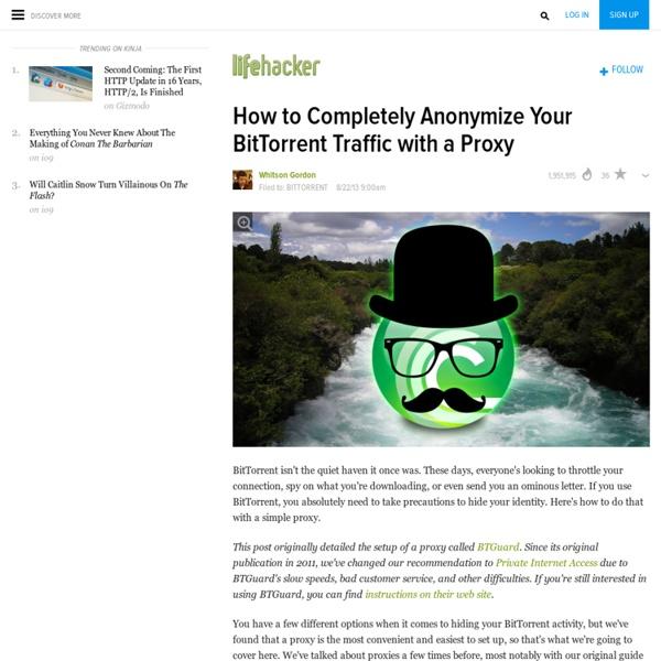 Comment anonymiser complètement votre trafic BitTorrent avec un proxy