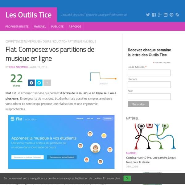 Flat. Composez vos partitions de musique en ligne