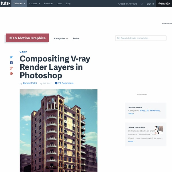 Compositing V-ray Render Layers in Photoshop
