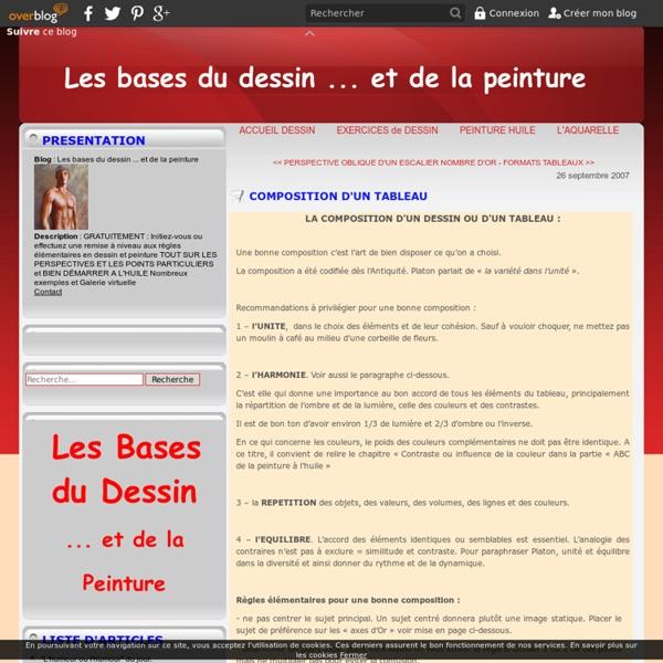 COMPOSITION D'UN TABLEAU - LES BASES DU DESSIN ... et de la PEINTURE