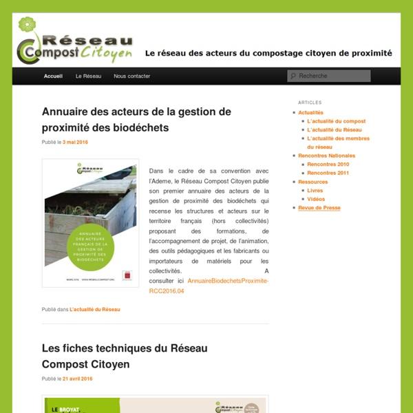 Le réseau des acteurs du compostage citoyen de proximité