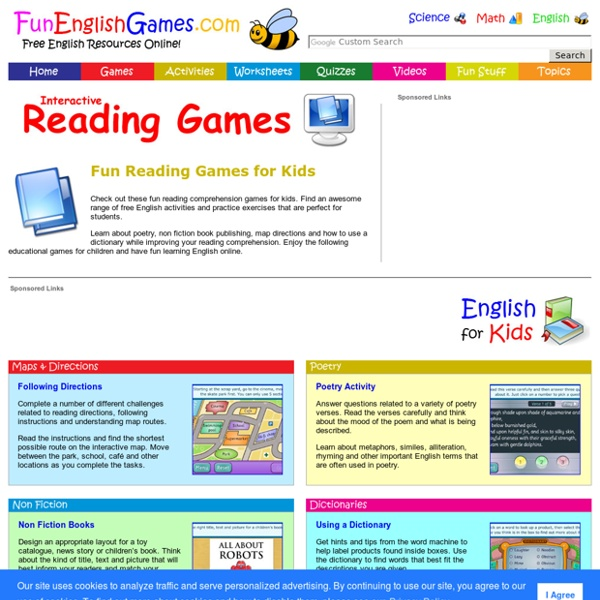 Online reading comprehension for kids