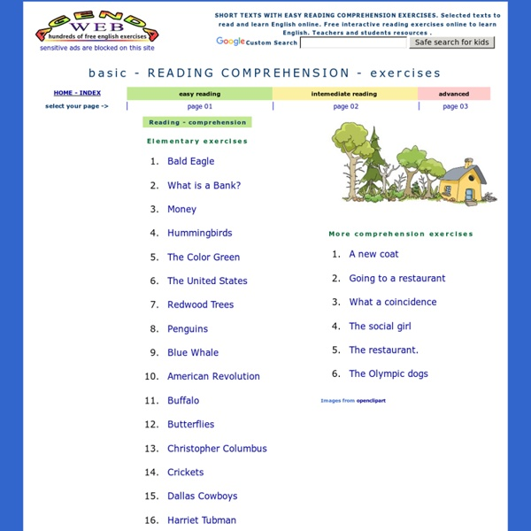 Basic Reading Comprehension Exercises Easy Texts Elementary