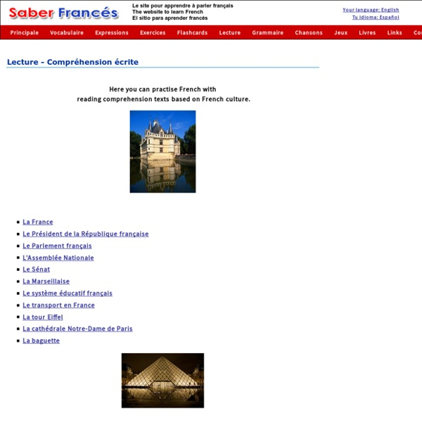 French reading comprehension exercises