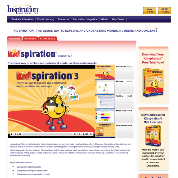 Develop elementary reading comprehension, writing and math skills with Kidspiration®