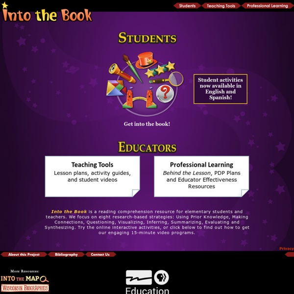 Into the Book: Teaching Reading Comprehension Strategies
