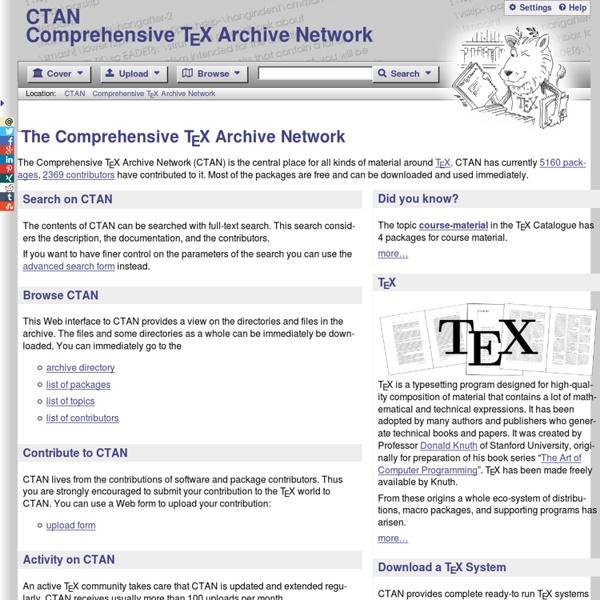 CTAN: Comprehensive TeX Archive Network