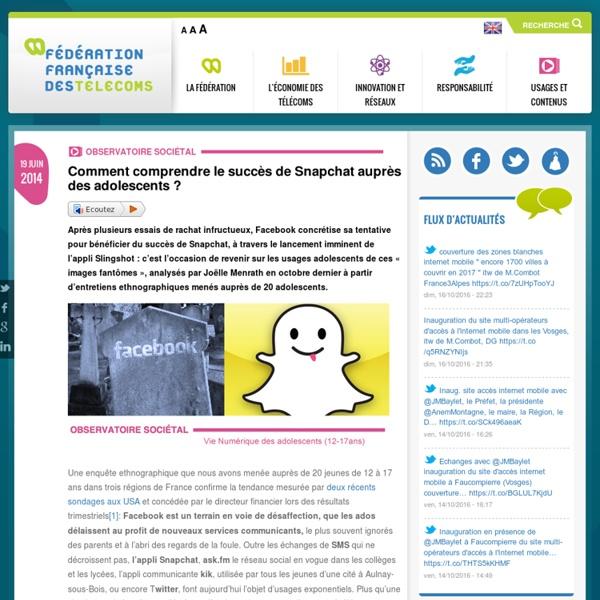 Comment comprendre le succès de Snapchat auprès des adolescents