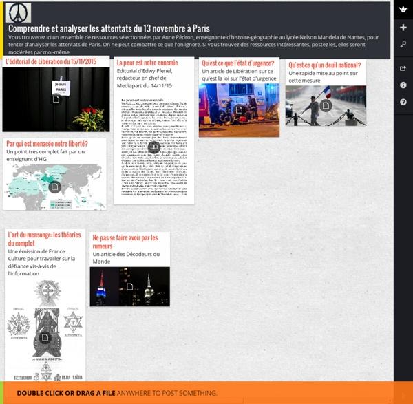Comprendre et analyser les attentats du 13 novembre à Paris