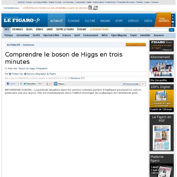 Sciences : Comprendre le boson de Higgs en trois minutes
