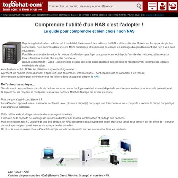 Comprendre le NAS - un guide pour bien choisir son serveur NAS