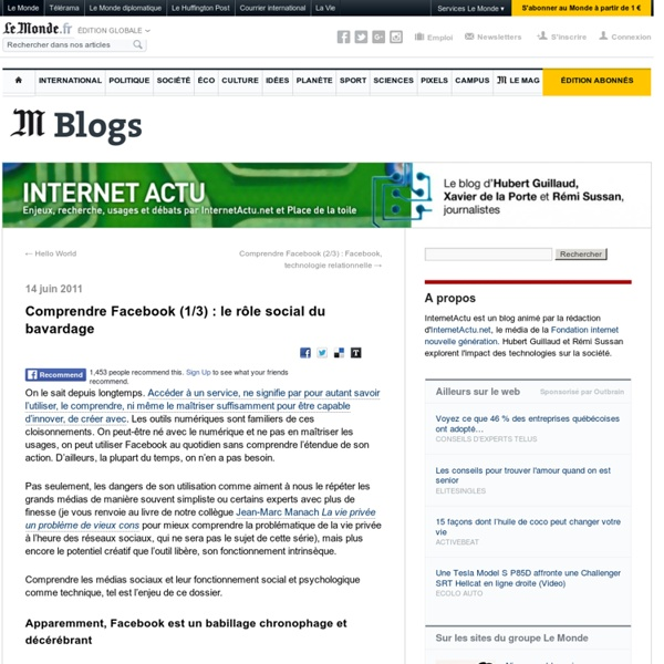Comprendre Facebook (1/3) : le rôle social du bavardage