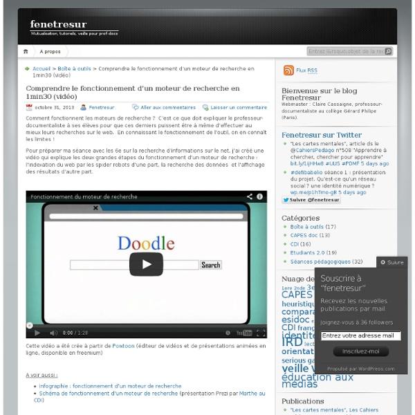 Comprendre le fonctionnement d'un moteur de recherche en 1min30 (vidéo)