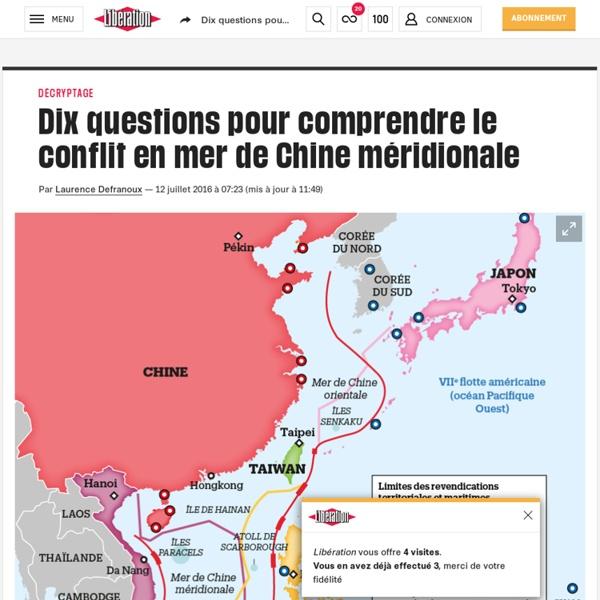 Dix questions pour comprendre le conflit en mer de Chine méridionale