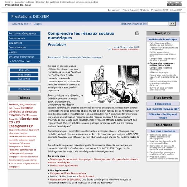 Comprendre les réseaux sociaux numériques - Prestations DSI-SEM