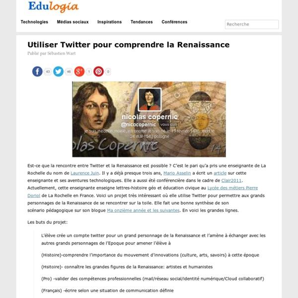 Utiliser Twitter pour comprendre la Renaissance