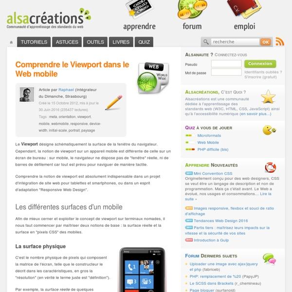 Comprendre le Viewport dans le Web mobile